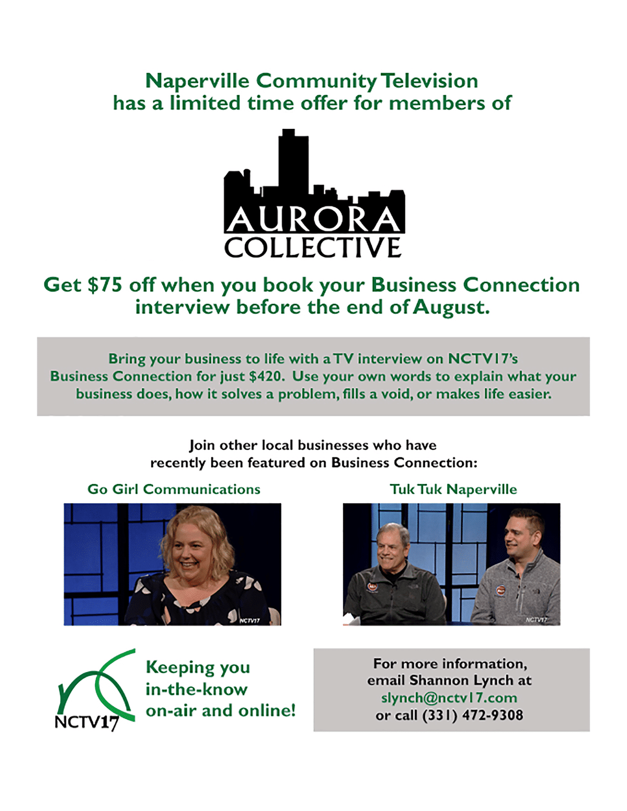 Aurora Collective - Business Connection Offer